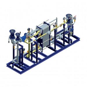 Блочный тепловой пункт (БТП) WaterLine (WL) Ридан - Блок ГВС (2-ступенчатая смешанная схема ГВС на базе теплообменника-моноблока)