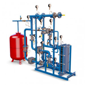 БТП Этра - Модуль отопления-вентиляции с независимым присоединением с 1 теплообменником (без резерва)