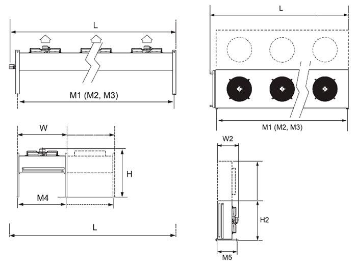 Воздушный конденсатор Alfa Laval AlfaBlue Junior AGHS401AS