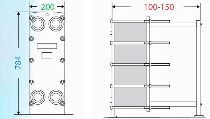 Теплообменник пластинчатый разборный Анвитэк АMХ-40-31