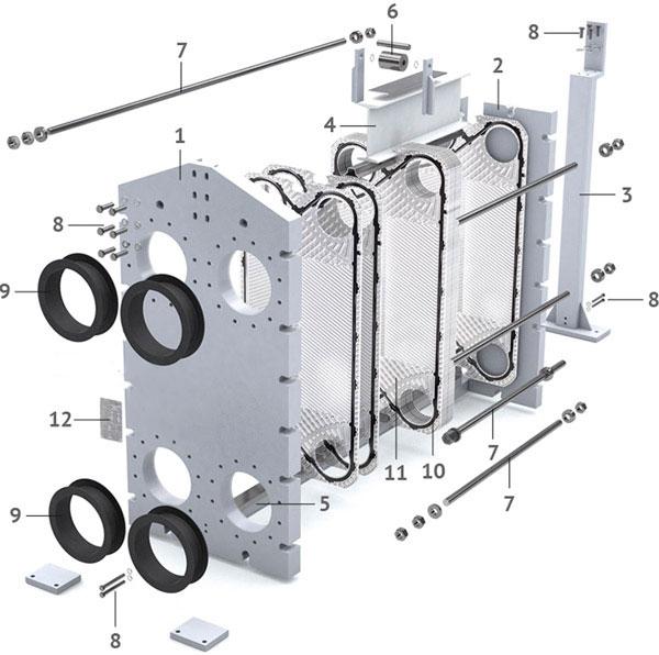 Теплообменник пластинчатый разборный Анвитэк АMХ-60-15