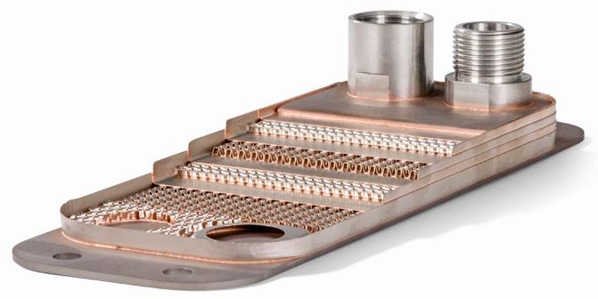 Конструкция паяного пластинчатого теплообменника GBH 300-20 Кельвион
