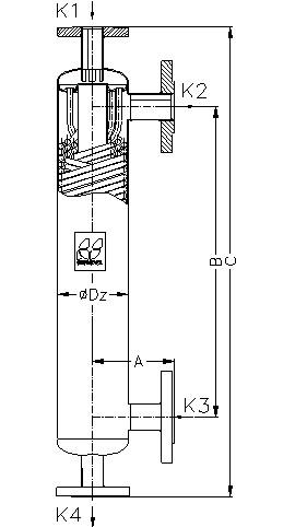 Кожухотрубный теплообменник Secespol JAD 6.50.10 EE.STA.SS
